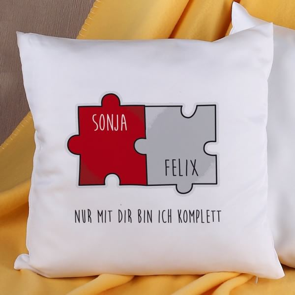 Puzzle-Kissen für Paare