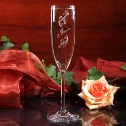 Sektglas mit Wunschnamen