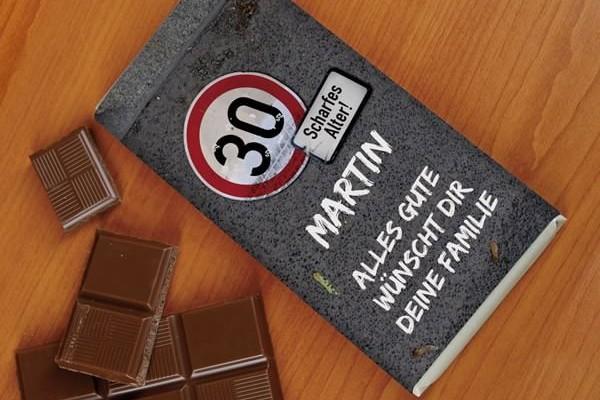 100g Schokolade zum Geburtstag